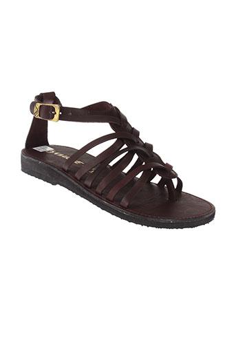 la et marine sandales et nu et pieds femme de couleur marron