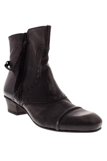 bocage bottines femme de couleur noir