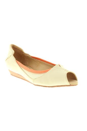 terra plana chaussures femme de couleur beige