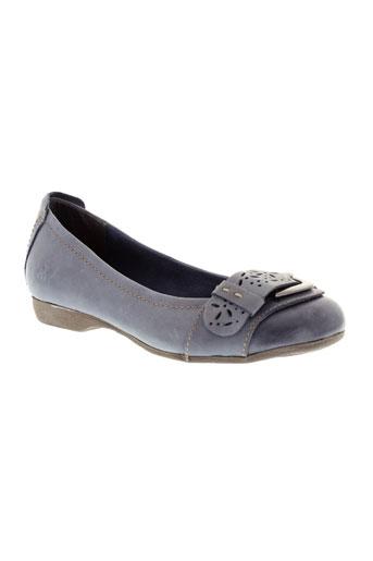 marco tozzi chaussures femme de couleur bleu