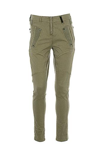 mc planet pantalons femme de couleur marron