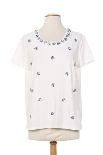 weekend maxmara t et shirts et tops femme de couleur blanc