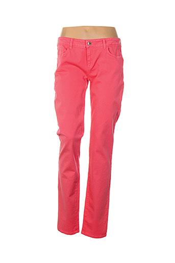 sportmax pantalons femme de couleur rose