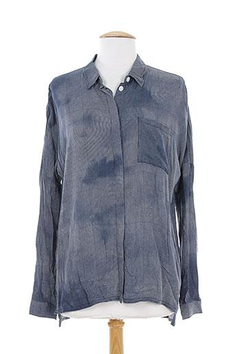 bench chemises femme de couleur bleu