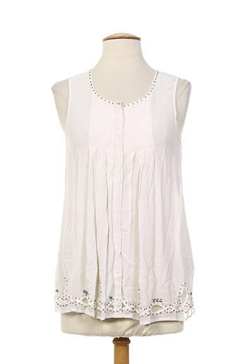 et compagnie chemises femme de couleur blanc