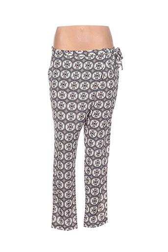 just orna pantalons femme de couleur beige