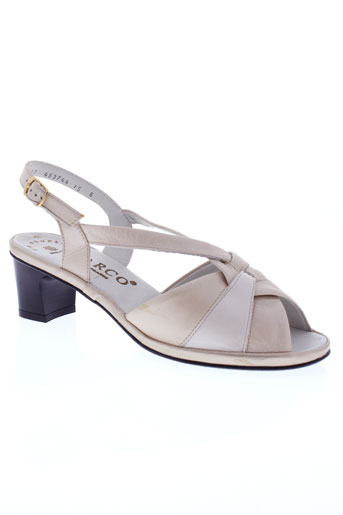 marco sandales et nu et pieds femme de couleur beige