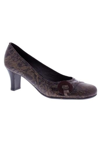 pierre chupin chaussures femme de couleur marron