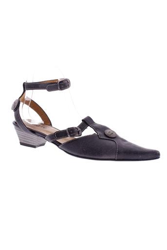 trinity sandales et nu et pieds femme de couleur noir