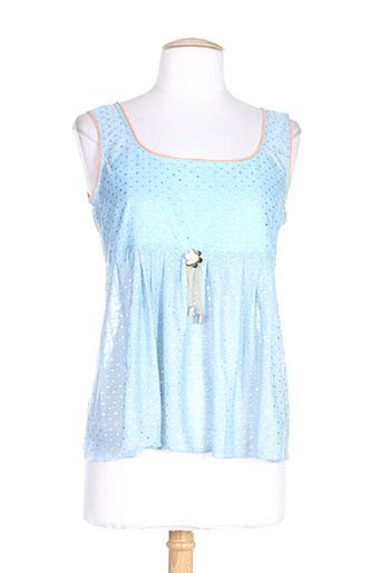 lo! les filles chemises femme de couleur bleu