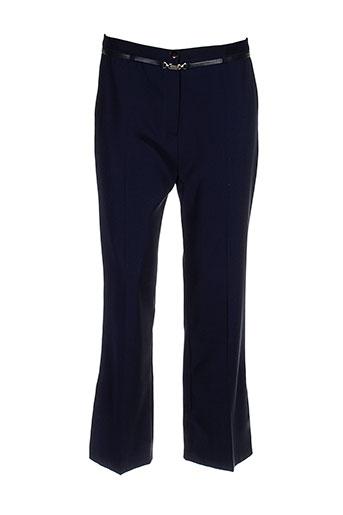 com elle pantalons femme de couleur bleu