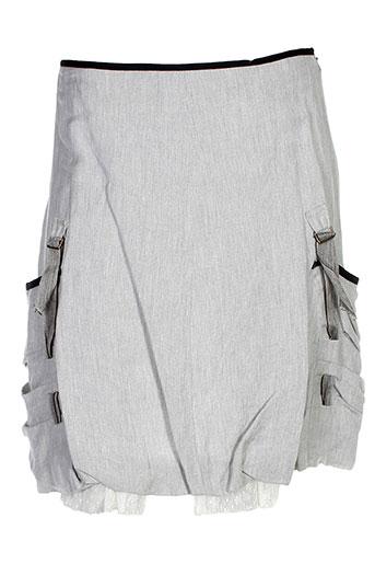 double jeu jupes femme de couleur gris