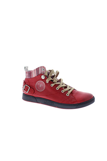 pataugas baskets femme de couleur rouge