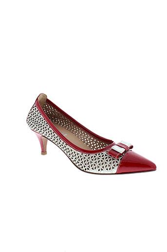 fidji escarpins femme de couleur rouge