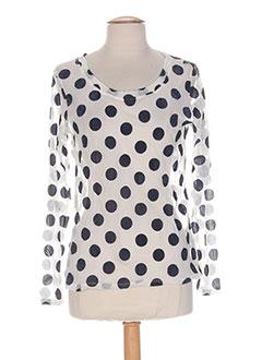 Produit-T-shirts / Tops-Femme-POISSONS BLANCS