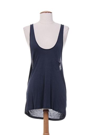 acquaverde t-shirts femme de couleur bleu