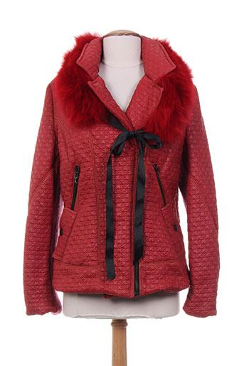 tricot chic vestes femme de couleur rouge