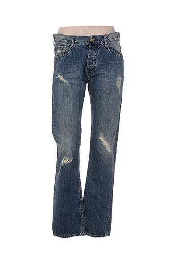 acquaverde jeans et coupe et droite femme de couleur bleu