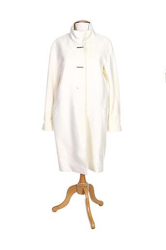lauren vidal manteaux femme de couleur blanc