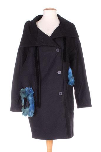 les habits de dalie manteaux femme de couleur noir