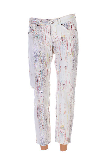 set pantalons femme de couleur blanc