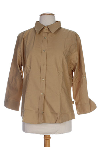 koulala chemises femme de couleur beige