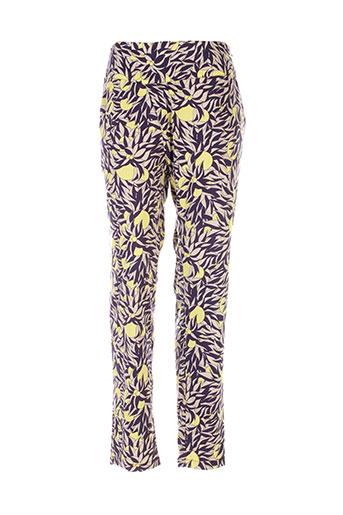 skunkfunk pantalons et decontractes femme de couleur jaune