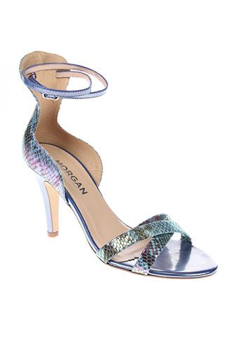 morgan sandales et nu et pieds femme de couleur bleu
