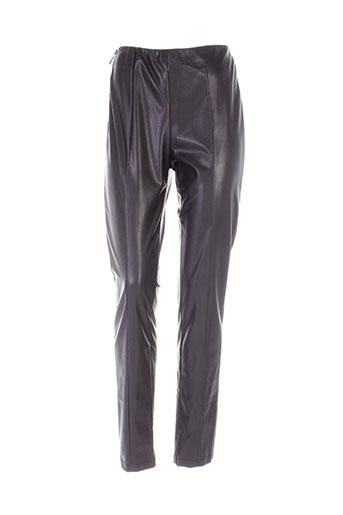 rino EFFI_CHAR_1 pelle pantalons femme de couleur noir