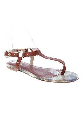 just et cavalli sandales et nu et pieds femme de couleur marron