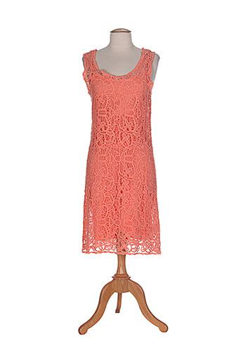 caroline biss robes femme de couleur orange