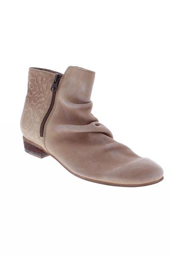 felmini boots femme de couleur beige