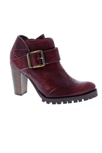 dkode boots femme de couleur rouge