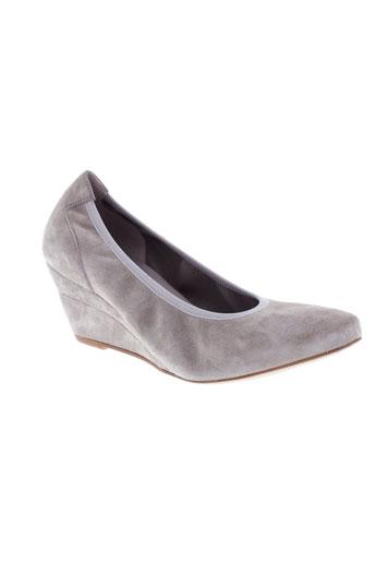 perlato escarpins femme de couleur gris