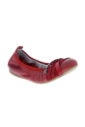 madison ballerines femme de couleur rouge