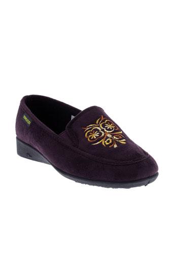 semelflex pantoufle femme de couleur violet