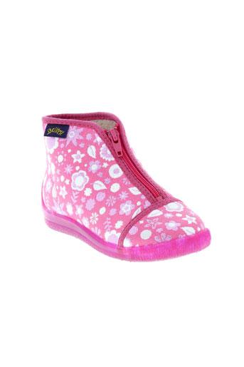 bellamy pantoufle fille de couleur rose