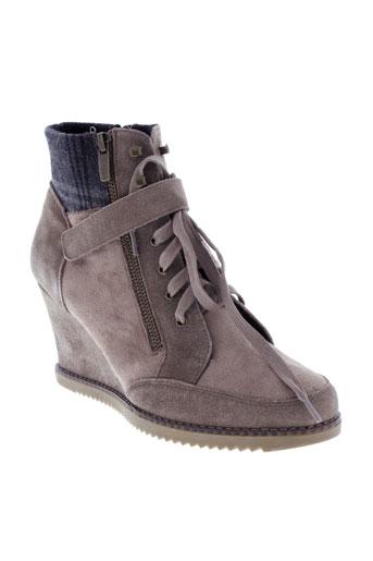 madison boots femme de couleur beige
