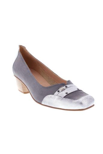 moova escarpins femme de couleur gris