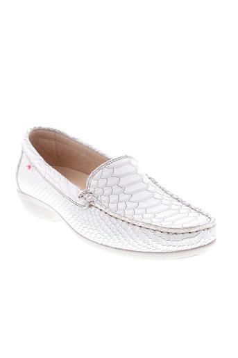 fluchos chaussures femme de couleur blanc