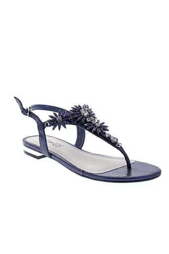 elue et par et nous sandales et nu et pieds femme de couleur bleu