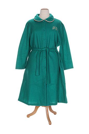 20 et 20 robes et de et chambre et peignoirs femme de couleur vert (photo)
