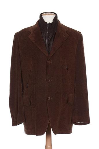 duca visconti vestes homme de couleur marron