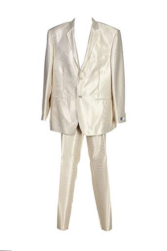 optimal pantalon et veste homme de couleur beige