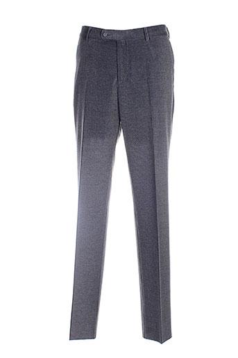 luc saint alban pantalons homme de couleur gris