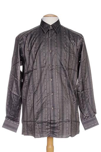 luc saint alban chemises homme de couleur gris
