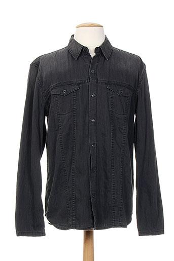 closed chemises homme de couleur noir
