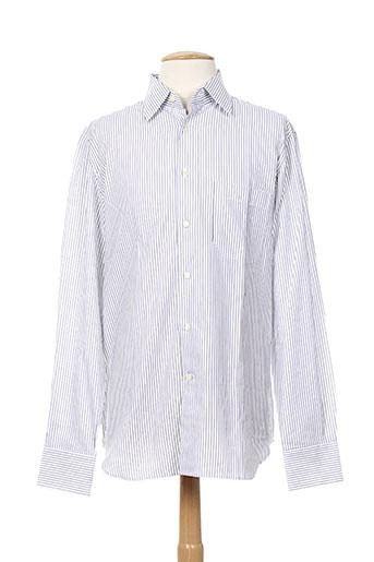 corneliani chemises homme de couleur blanc
