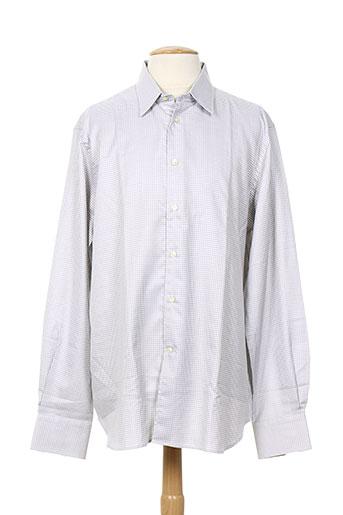 corneliani chemises homme de couleur gris
