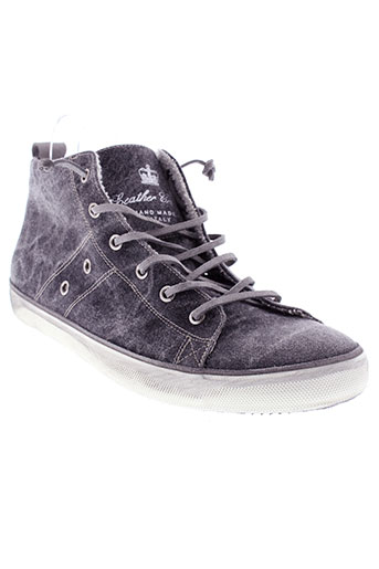 leather crown chaussures homme de couleur gris